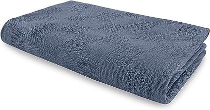 JMR أزرق سماوي مستشف/بطانية حرارية للمنزل من Snagfree قطن 100% رمي أو لحاف مقاس مزدوج 66x90