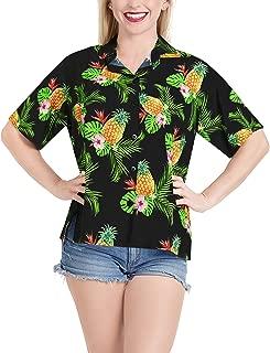 Women Plus Size Hawaiian Shirt Regular Fit Short Sleeve Shirt Printed A