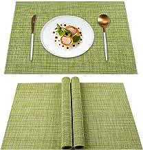 طقم مفارش من 4 قطع عازل للحرارة ومقاوم للبقع وقابل للغسل مفارش لطاولة المطبخ متينة ومانعة للانزلاق لطاولة الطعام من يسك