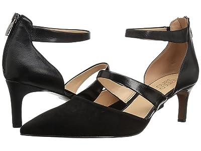 Franco Sarto Davey (Black Suede/Leather) Women