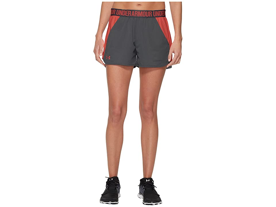 Under Armour New Play Up Shorts (True Gray Heather/Brilliance/Brilliance) Women's Shorts