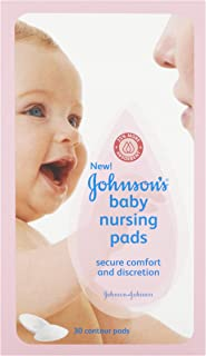 Johnson's Nursing Pads, Contour, 30 Disposable Pads, (Pack of 2)