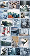Call of The Wild Digital Panel Frost from Hoffman Fabrics 100% Cotton Quilt Fabric P4354H-113 24