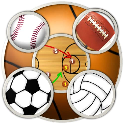 6 Sports Clipboards & Scoreboard (basketball, football, baseball, soccer, volleyball, ice hockey) for Kindle, Tablet, & Phone