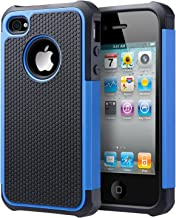 UARMOR Case for Apple iPhone 4 / iPhone 4S, Hybrid Dual Layer Protective Case with Hard Plastic and Soft Silicone Shockpro...