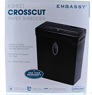 Embassy Lx60b 6-Sheet Cross-Cut Shredder