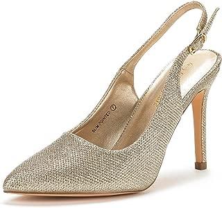 Women's Slingback Pointed Toe Stiletto High Heels Dress Pumps