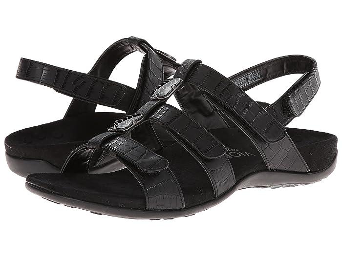 VIONIC  Amber (Black Croco) Womens Sandals