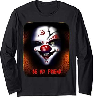 Evil and Scary Clown on Fire, Bloody Be My Friend, MbASSP Long Sleeve T-Shirt