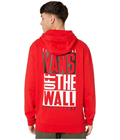 Vans New Stax Pullover Hoodie (Racing Red) Men