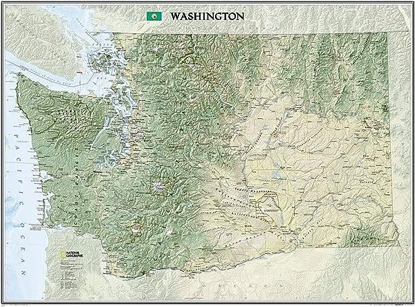 美国国家地理挂图 40 月个月 30 英寸国家地理参考图