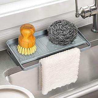 YOHOM Support d'évier de cuisine à ventouse pour évier de cuisine - Organiseur de comptoir pour savon, vaisselle, support ...
