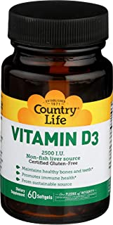 Country Life Vitamin D3 2500 I.u, 60-Count