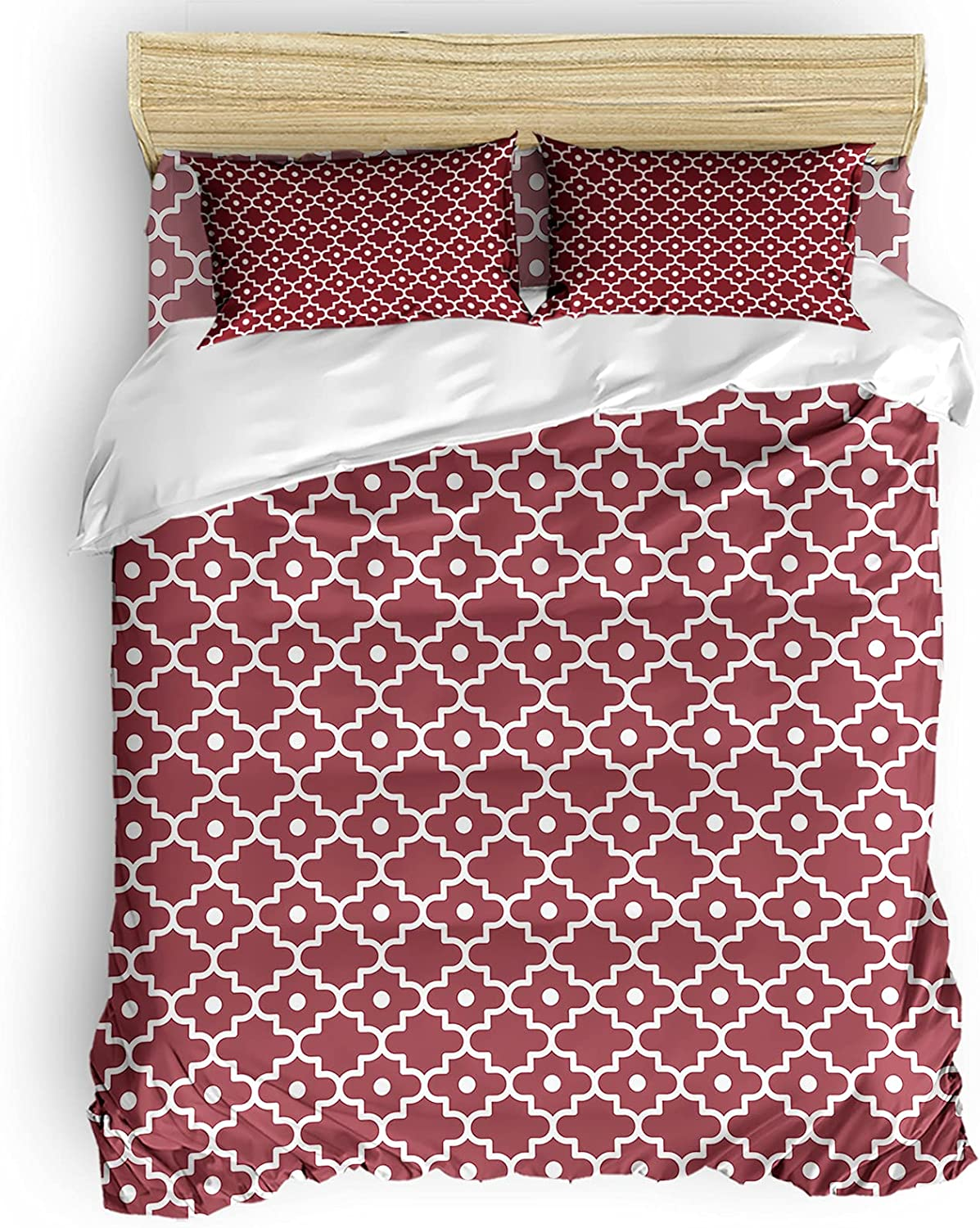 Big buy store Geometry Morocco Houston Mall Manufacturer direct delivery Pattern Piece 4 Cover R Duvet Set