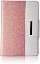 Thankscase Case for iPad Mini 4, Rotating Case Cover for Ipad Mini 4 with Wallet and Pocket with Hand Strap with Smart Cover Function for iPad Mini 4 (Rose Gold 2)