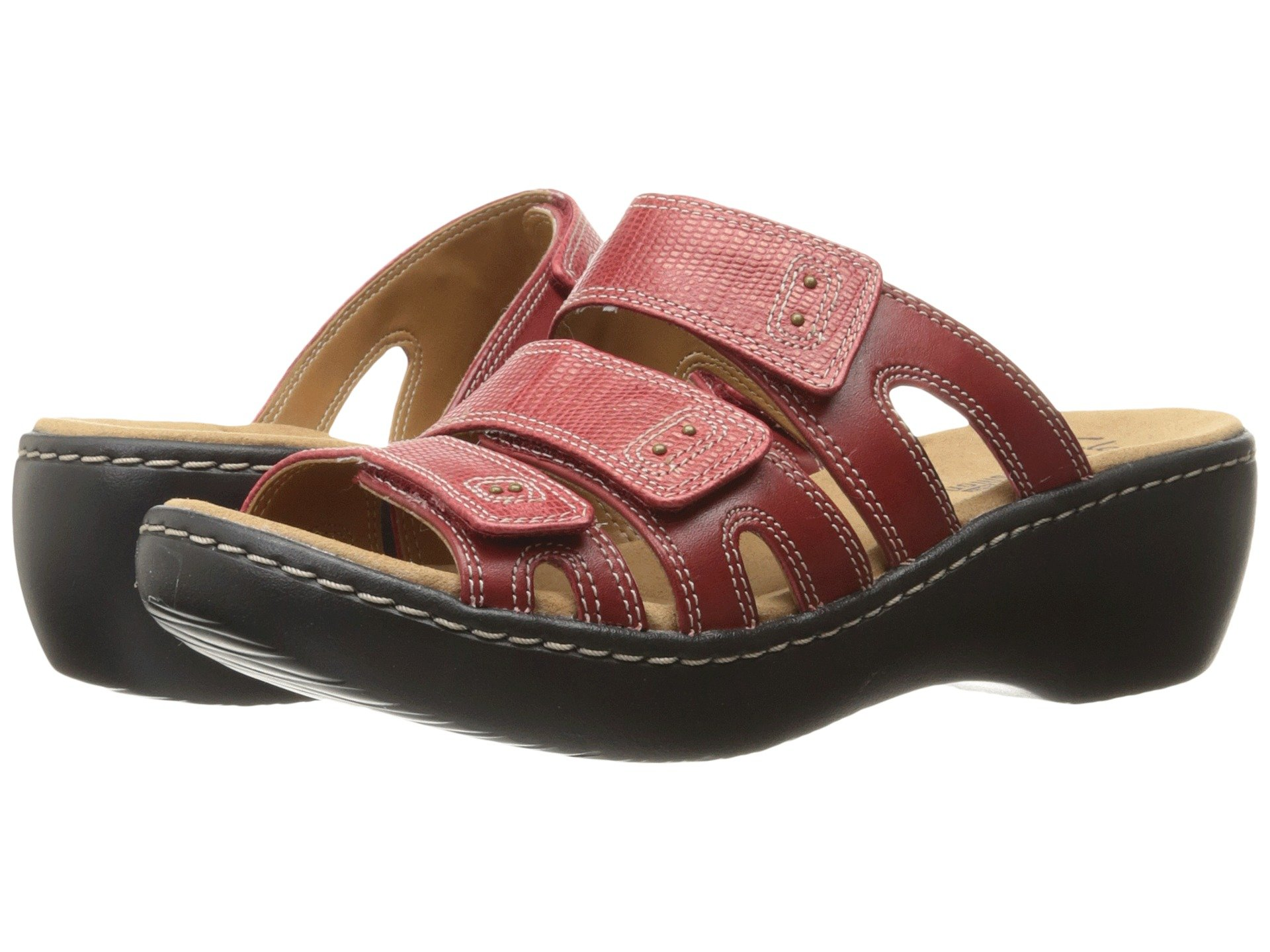 4450ab59a9a5 Clarks Delana Damir In Red Leather Combi