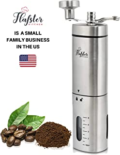 Manual Coffee Grinder – Conical Burr Coffee Grinder - Hand Coffee Grinder Gift Set – Adjustable for Fine/Coarse Grind, Perfect for French Press, Cold Brew & Pour Over - Burr Mill Coffee Grinder