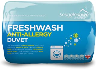 Snuggledown Fresh Wash Anti Allergy 10.5 Tog 羽绒被,棉,白色,Single