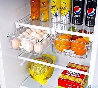 HapiLeap Lot de 2 boîtes de rangement pour réfrigérateur - Design unique