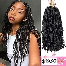 Forevery Nu Locs Crochet Hair 14inch 3Packs/lot Goddess locs Crochet Hair 100% Premium Fiber Faux Locs African Roots Dreadlock Synthetic Braiding Hair Extensions (14