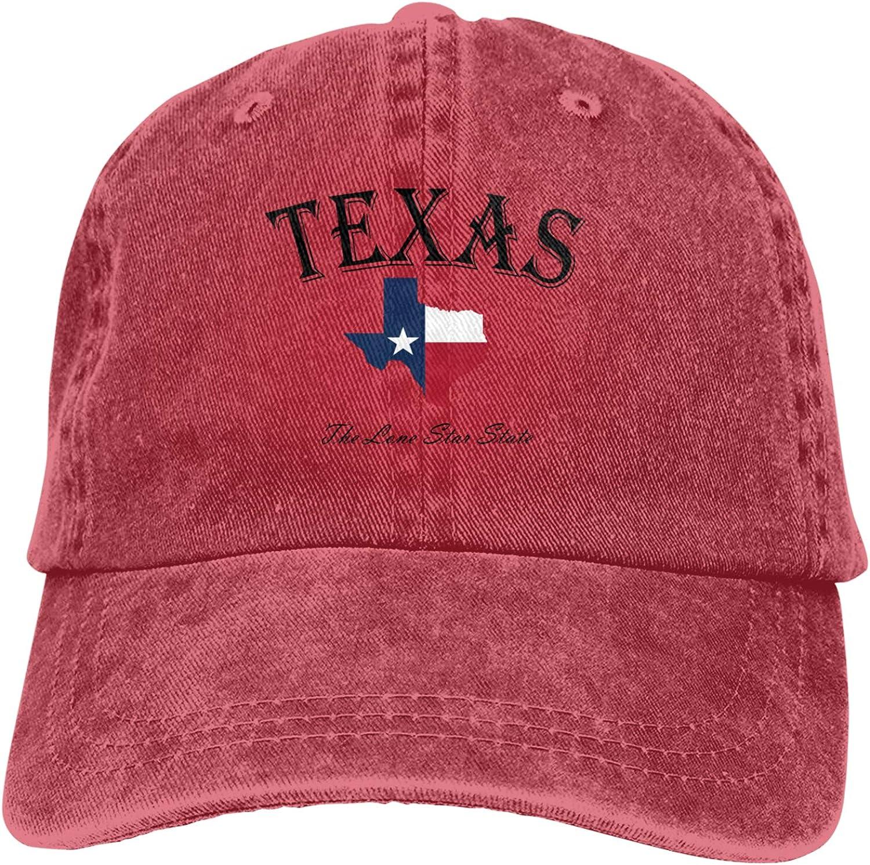 Denim Cap Texas Lone Star State Baseball Dad Cap Classic Adjustable Casual Sports for Men Women Hats
