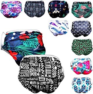 Will & Fox Reusable Swim Diaper Baby Girl Boy One Size Fits: 3 Months - 3 Years !