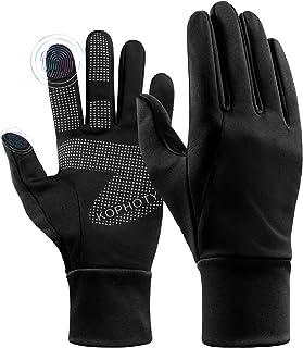 دستکش های زمستانی KOPHOTY زنانه دستکش گرم صفحه نمایش لمسی ضد آب دستکش های حرارتی ضد باد برای رانندگی در حال اجرا دوچرخه سواری ارسال پیام کوتاه