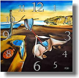 dudkaair Salvador Dalí - The Persistence of Memory 11.4'' Handmade Wall Clock - Get Unique décor for Home or Office – Best Gift Ideas for Kids, Friends, Parents and Your Soul Mates