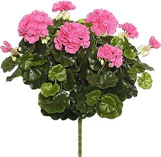"Vickerman Everyday Artificial Pink Geranium Bush 17.5"" Long - Premium Faux Floral Decor for Wedding or Everyday Arrangemen..."