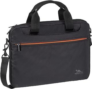 RIVACASE Laptoptasche bis 12.1'   Elegante und kompakte Tasche aus wasserfestem Material mit faltbarenTragegriffen   Schwarz