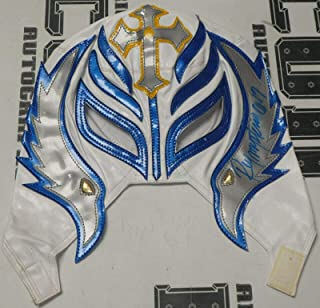 Rey Mysterio Signed Mask COA WWE Wrestling Lucha Libre Underground BLEM1 - PSA/DNA Certified - Autographed Wrestling Cards