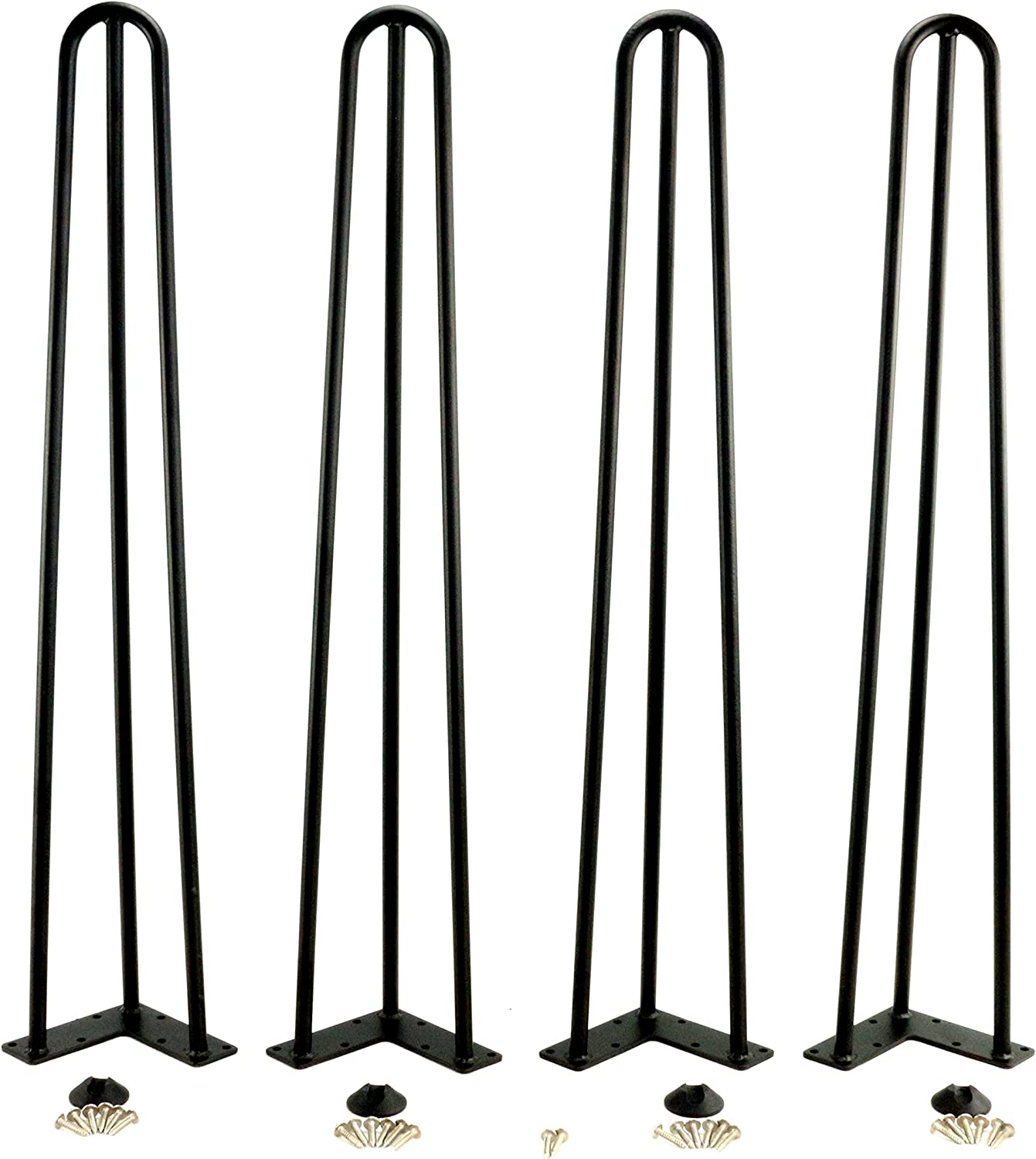 Black Hairpin Metal Table Legs,Coffee Table,Living Room Table Leg,71 cm Height,2 Wire of 4 Pcs (86CM-3Rod)