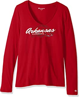 Champion Womens NCAA Women's University Long Sleeve V-Neck Tee C5386-1