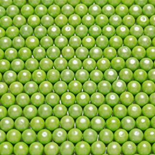 """Shimmer Green 1/2 Inch Gumballs - Green Apple Flavored - Includes """"How To Build a Candy Buffet Table"""" Guide (Shimmer Green)"""
