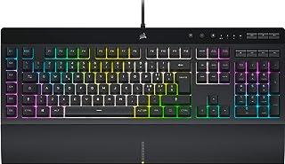 Corsair K55 RGB PRO XT Tastiera Gaming a Membrana Cablata, Retroilluminazione RGB, 6 Tasti Macro con Integrazione Software...