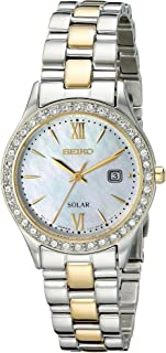 Women's Two-Tone Crystal Solar Bracelet Watch