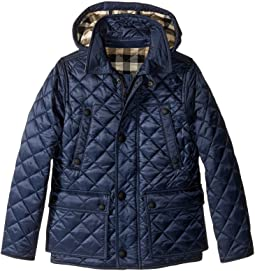 Burberry Kids Quilted Jacket with Hood (Little Kids/Big Kids)