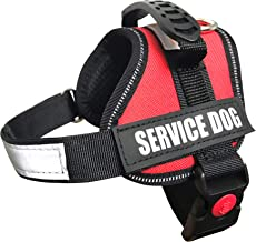 ALBCORP Service Dog Vest Harness - Reflective - Woven Polyester & Nylon, Comfy Mesh Padding, RED/Black