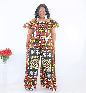 African Print Ankara Wide Leg Jumpsuit Off The Shoulder