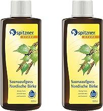 spitzner Lot de 2 parfums pour sauna - Bouleau nordique - 190 ml chacun