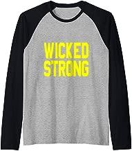 Boston Wicked Strong Raglan Baseball Tee