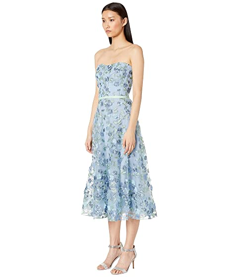 3fb99415 Marchesa Notte Strapless Embroidered Tea Length Gown at Luxury ...