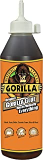 Gorilla Original Gorilla Glue, Waterproof Polyurethane Glue, 18 ounce Bottle, Brown