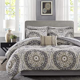 Madison Park MPE10-154 Essentials Serenity Complete Bed and Sheet Set Cal King Taupe