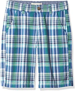 NAUTICA Boys' Stretch Twill Flat Front Shorts
