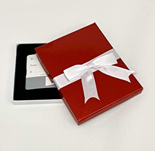Gift Card Holder - Gift Card Box, Great for Christmas and Cards (6 Pack, Red Bow)