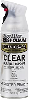 Rust-Oleum Clear 302155 Universal All Surface Spray Paint 11 oz, Frosted Pearl
