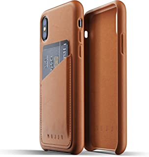 Mujjo Full Leather Wallet Case for iPhone X, Tan