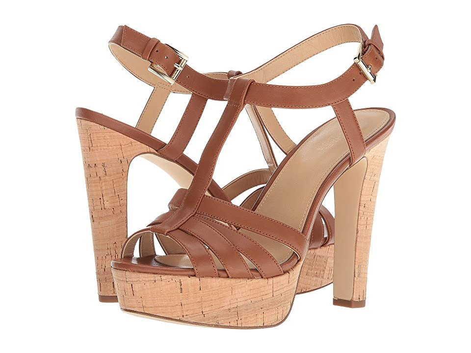 MICHAEL Michael Kors Catalina Sandal (Luggage Vachetta/Cork) Women
