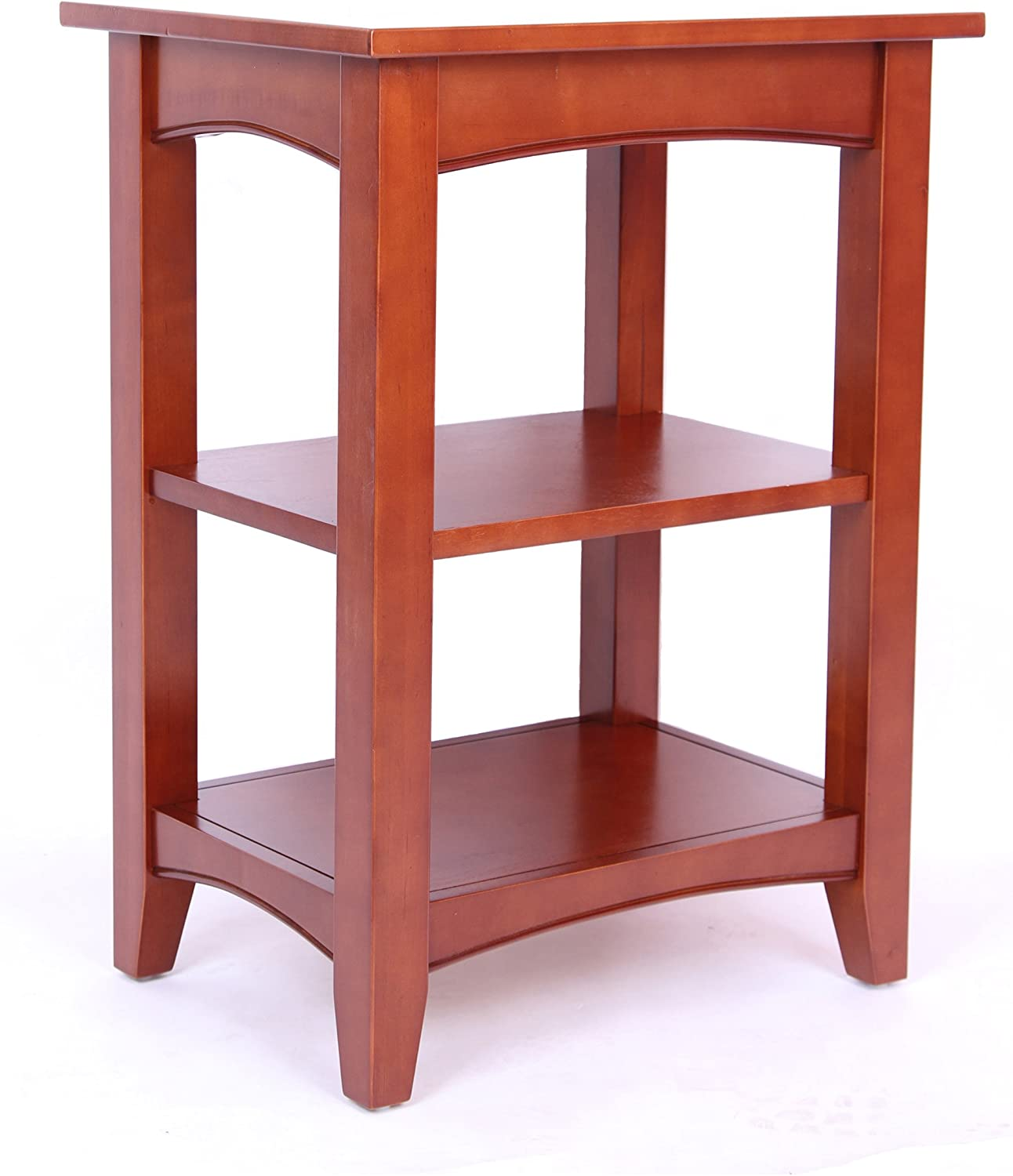 Alaterre Furniture ASCA0260 Shaker Cottage 2-Shelf End Table, Cherry